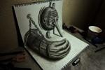 80 dibujos que se salen del papel – Anamorfosis ceslava 55