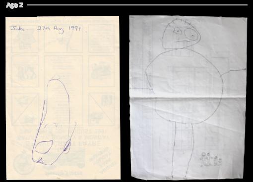 evolución dibujos de 2 a 24 años Jake Lockett (1)