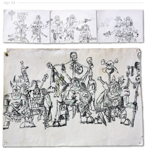 evolución dibujos de 2 a 24 años Jake Lockett (10)