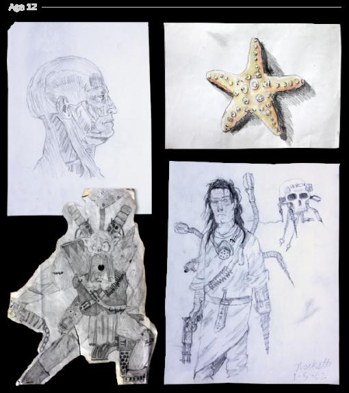 evolución dibujos de 2 a 24 años Jake Lockett (11)