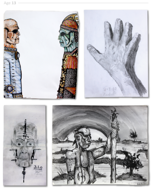 evolución dibujos de 2 a 24 años Jake Lockett (12)