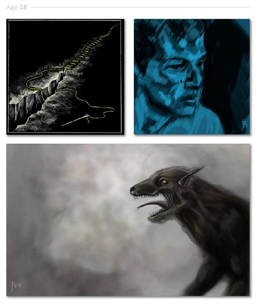 evolución dibujos de 2 a 24 años Jake Lockett (13-2)