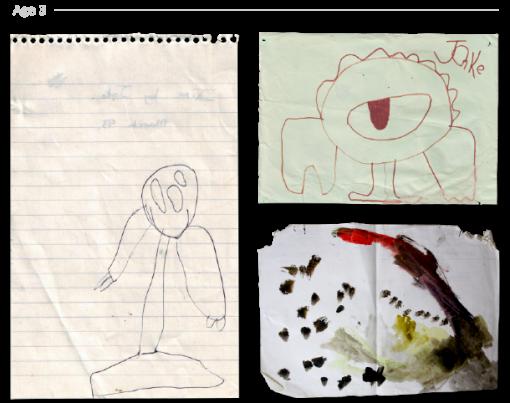 evolución dibujos de 2 a 24 años Jake Lockett (2)