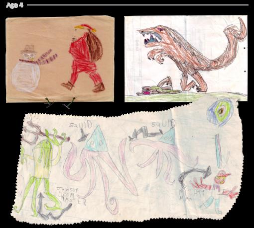 evolución dibujos de 2 a 24 años Jake Lockett (3)