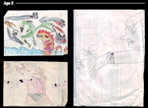 evolución dibujos de 2 a 24 años Jake Lockett (4)
