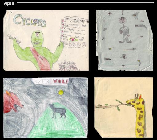 evolución dibujos de 2 a 24 años Jake Lockett (5)