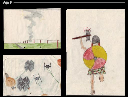 evolución dibujos de 2 a 24 años Jake Lockett (6)