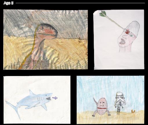 evolución dibujos de 2 a 24 años Jake Lockett (7)