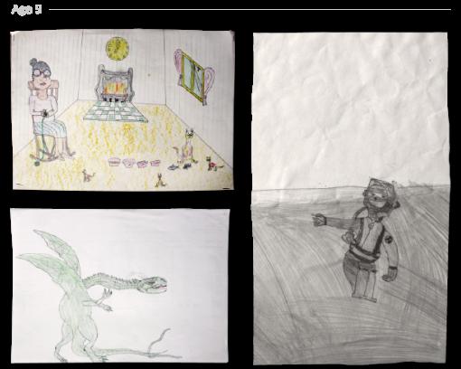 evolución dibujos de 2 a 24 años Jake Lockett (8)
