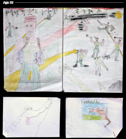 evolución dibujos de 2 a 24 años Jake Lockett (9)