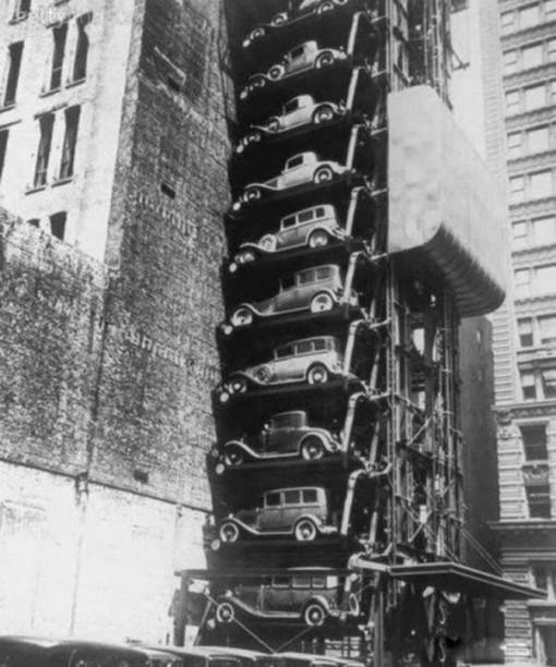 invento curioso fotografia chicago aparcamiento ascensor 1930