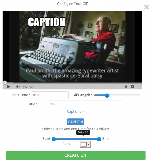 GIF YouTube   Make Animated GIFs from Youtube