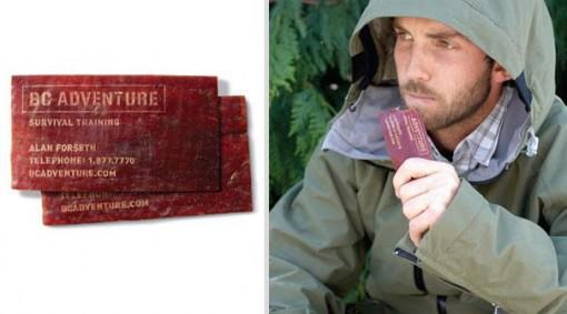 comestible supervivencia  tarjetas presentacion originales