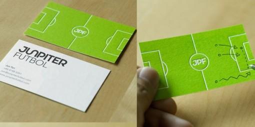 futbol 2 tarjetas presentacion originales