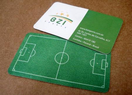 futbol  tarjetas presentacion originales