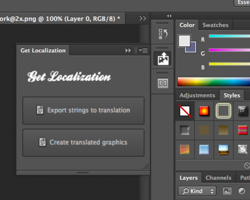 get localization photoshop free plugin translation