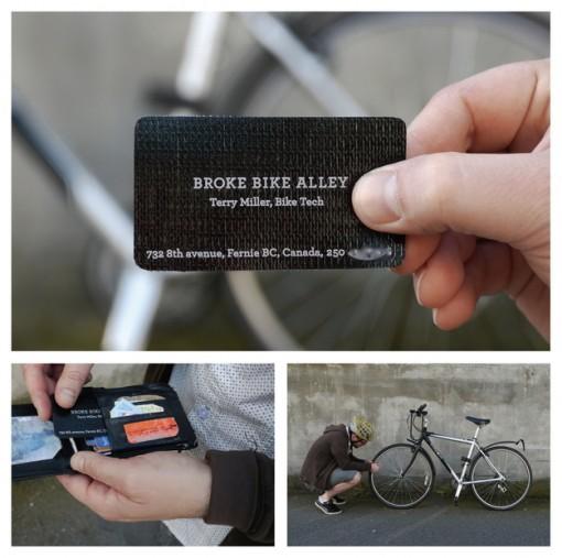 parche bicicleta  tarjetas presentacion originales