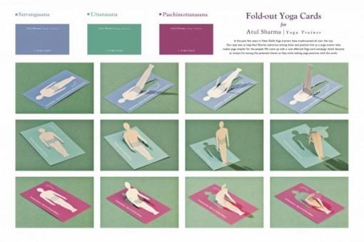yoga 3 tarjetas presentacion originales