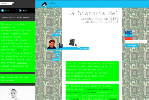 La historia del diseño web en GIFs animados 1989 ceslava