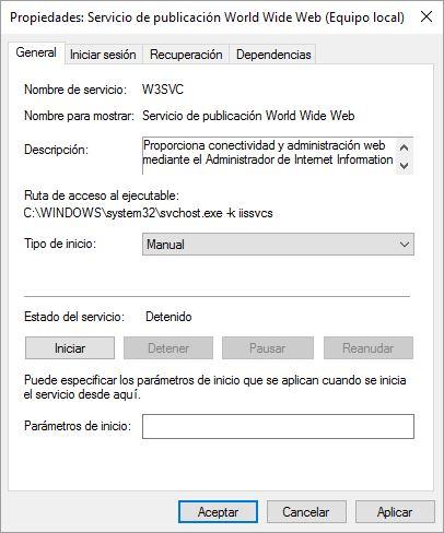 error puerto 80 windows 10 wordpress local