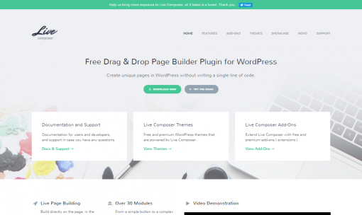 Live Composer • Free WordPress Page Builder Plugin