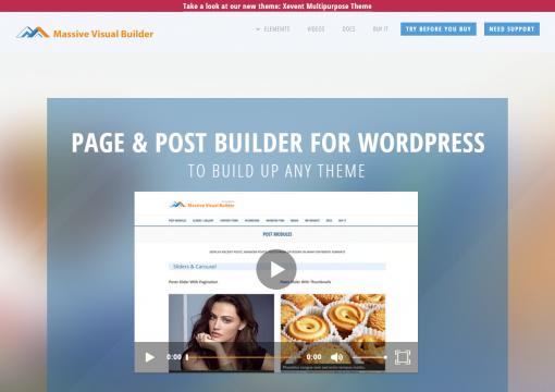 Massive Visual Builder WordPress Website Builder