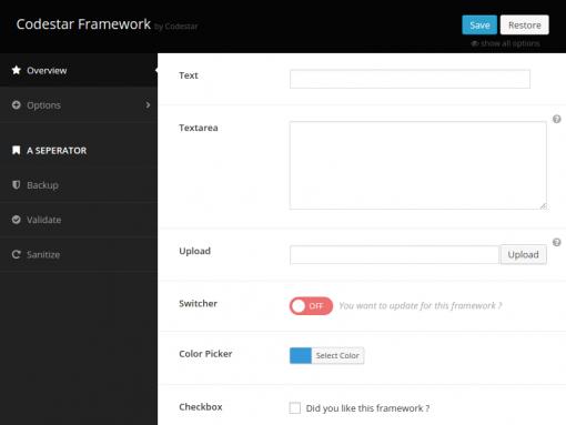 codestar-framework-wordpress