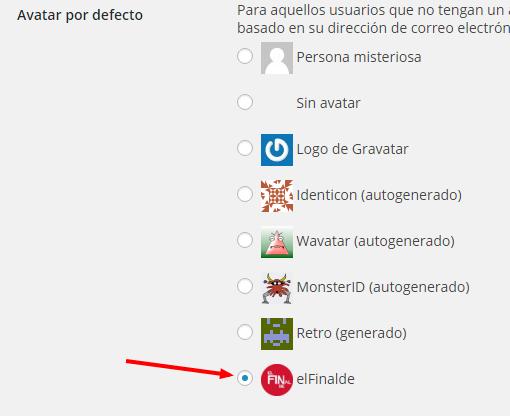 Ajustes de comentarios ‹ elFinalde — WordPress