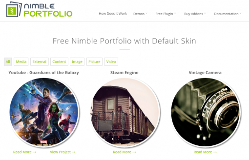 Free Nimble Portfolio with Default Skin Nimble Portfolio