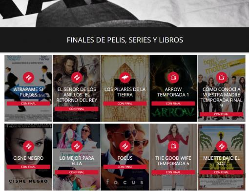 SPOILERS de películas series y libros elFinalde