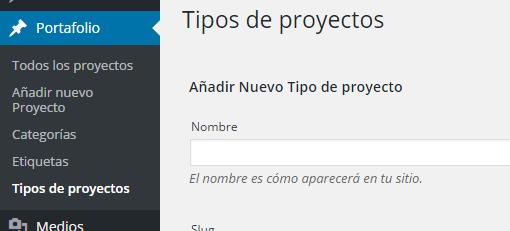 Tipos de proyectos ‹ ceslava - portafolio — WordPress