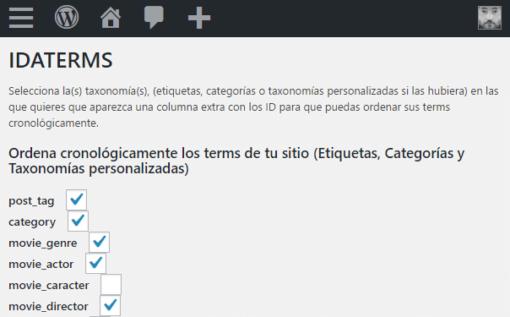 WordPress: Ordenar cronológicamente etiquetas, categorías y taxonomías ceslava 3