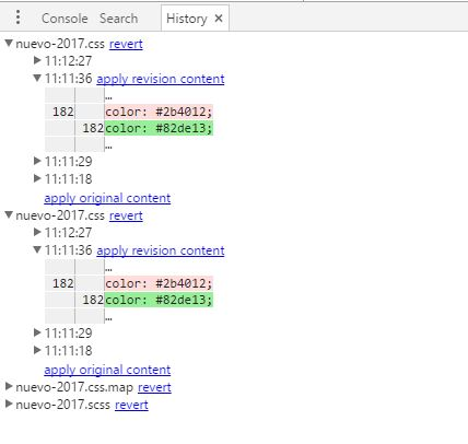 Cómo editar en vivo CSS o Sass con Chrome ceslava 0